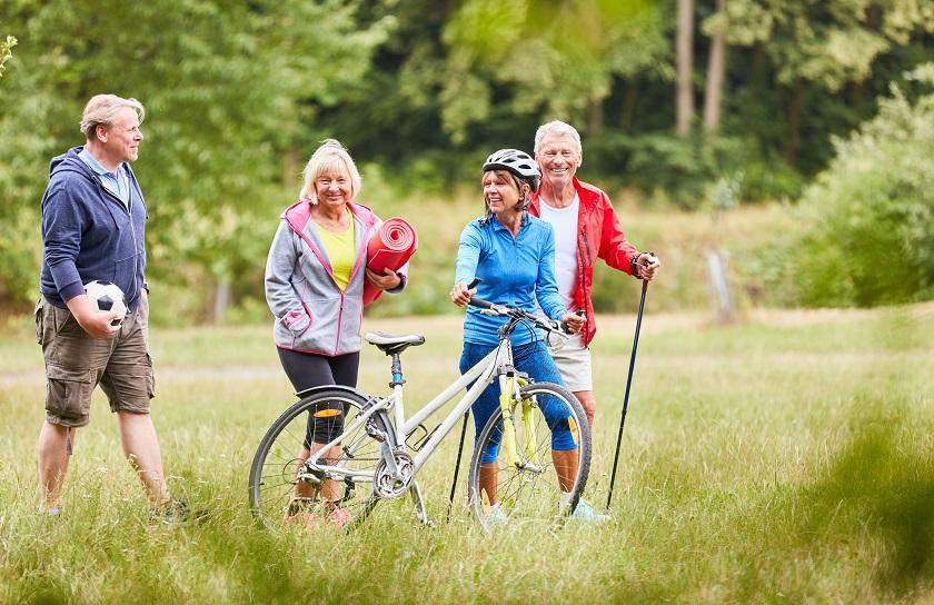 older people enjoying the outdoors